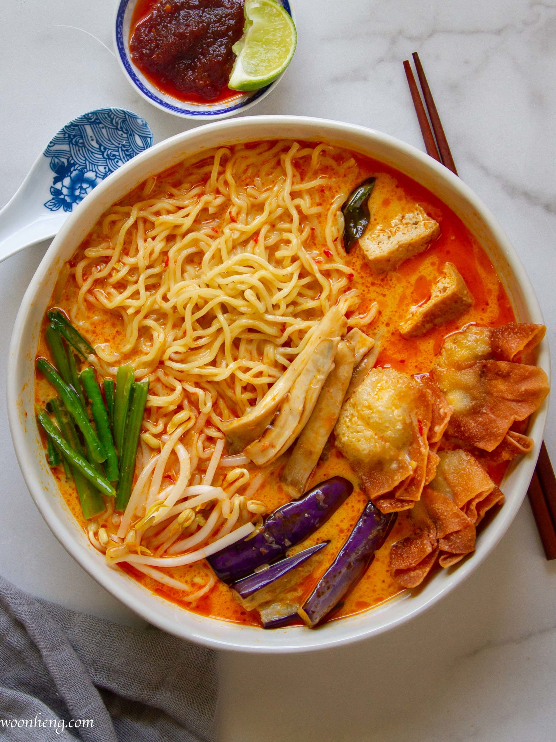Curry Laksa Curry Mee Malaysian Flavor 咖喱叻沙 Woonheng